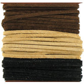 Black, Cafe & Sand Sof-Suede Lace Value Pack